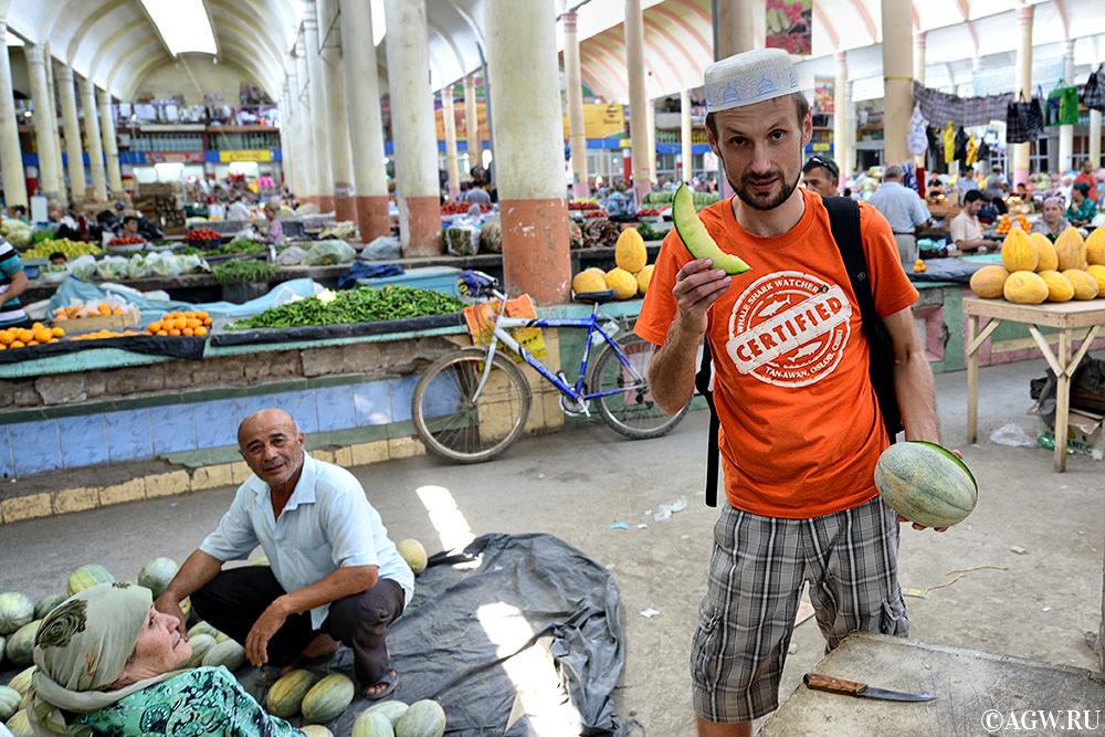 Пробуем арбузы и дыни в Таджикистане