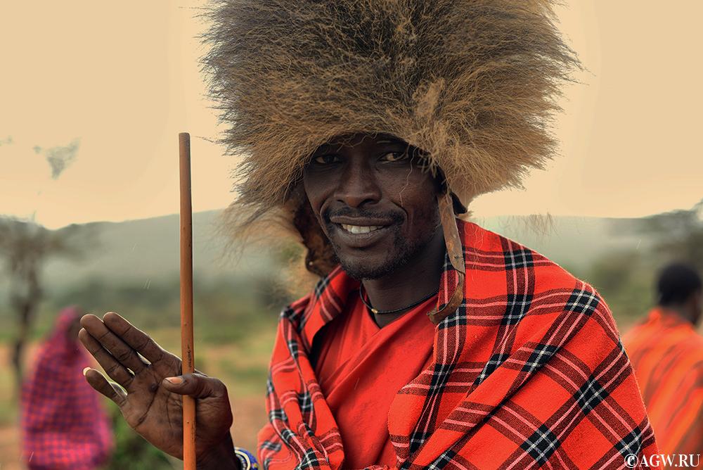 Воин племени масаи