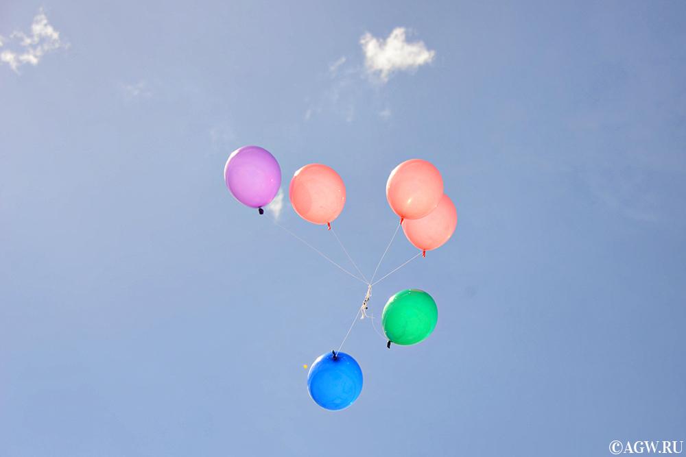 Воздушные шары в честь 17-летия Самала.