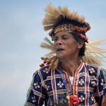 Орел-мужчина на празднике Кадаяван.