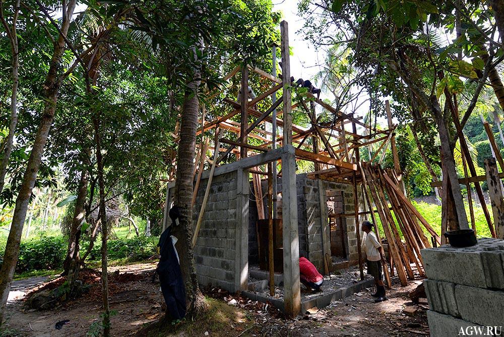Строительство дома с баней.